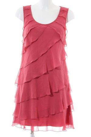 Zero Chiffon jurk rood casual uitstraling
