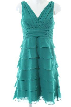 Zero Chiffon jurk turkoois elegant