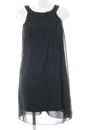 Zero Vestido de chifón negro elegante