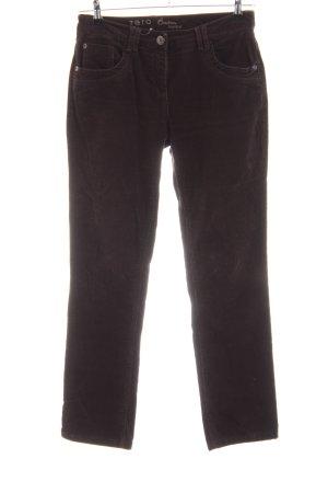 Zero Pantalón de pana marrón look casual