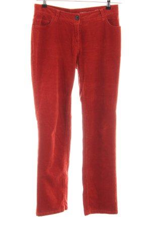 Zero Pantalón de pana rojo look casual