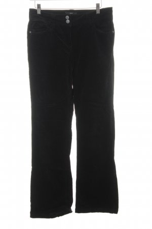 Zero Pantalon en velours côtelé noir style décontracté