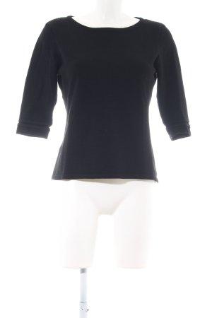 Zero Cropped Shirt black casual look