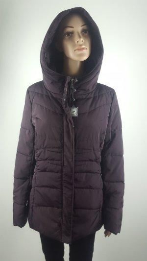 Zero Manteau en duvet brun pourpre-rouge mûre