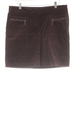Zero Jupe à plis brun noir style simple
