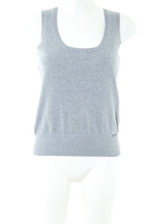 Zero Cardigan en maille fine gris clair style décontracté