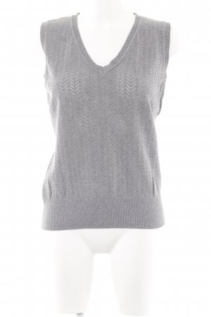 Zero Fine Knitted Cardigan grey loosely knitted pattern casual look