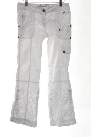 Zero Five-Pocket-Hose weiß Casual-Look