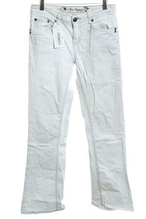 Zero Pantalone cinque tasche bianco stile casual
