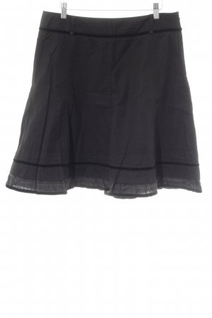Zero Godet Skirt black-anthracite striped pattern casual look