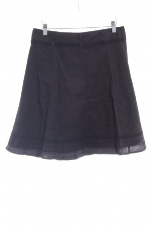 Zero Godet Skirt black-light grey check pattern casual look
