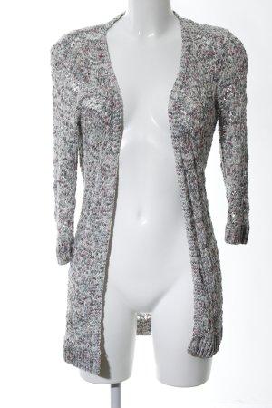 Zero Coarse Knitted Jacket light grey flecked casual look