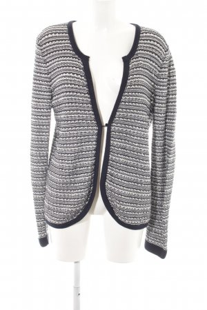 Zero Coarse Knitted Jacket striped pattern casual look