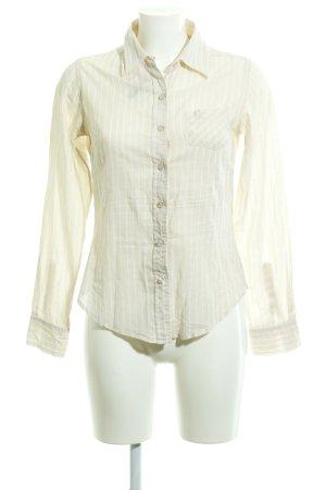 Zero Hemd-Bluse creme-weiß Streifenmuster Casual-Look