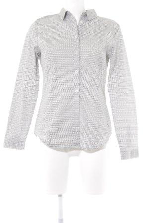 Zero Hemd-Bluse weiß-schwarz abstraktes Muster Business-Look