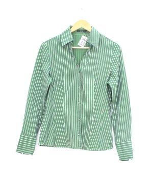 Zero Long Sleeve Shirt white-green cotton