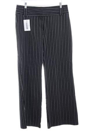 Zero Pantalon taille haute noir-blanc rayure fine style décontracté