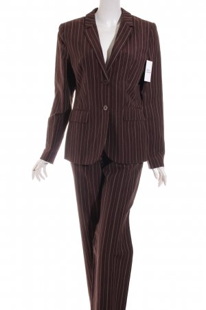 Zero Trouser Suit dark brown-white classic style