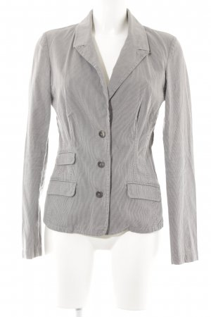 Zero Denim Blazer light grey-black striped pattern casual look