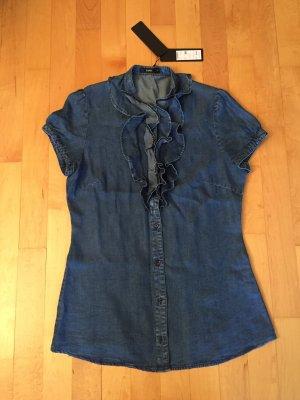Zero Jeansbluse Tunika Bluse 38 Neu