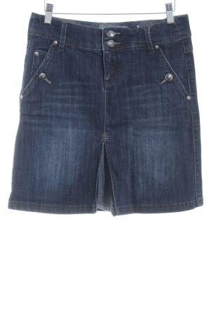 Zero Spijkerrok donkerblauw gestippeld Jeans-look