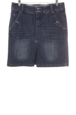 Zero Jupe en jeans bleu acier style décontracté