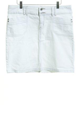 Zero Jupe en jeans blanc style anglais