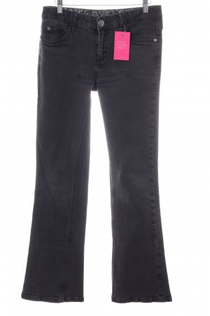 Zero Jeansschlaghose hellgrau Casual-Look