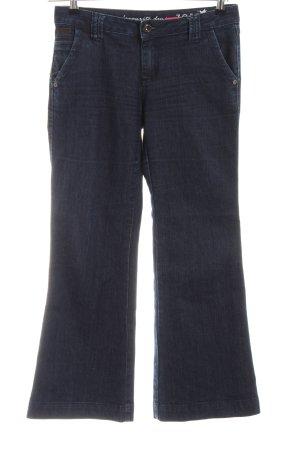 Zero Jeansschlaghose blau Casual-Look