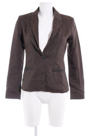 Zero Jersey blazer antraciet zigzag patroon casual uitstraling