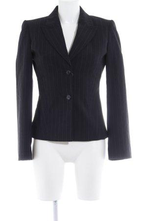 Zero Jersey Blazer negro-gris claro raya diplomática estilo «business»
