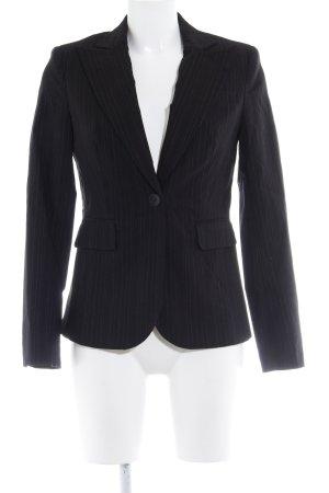 Zero Jersey Blazer negro-color plata raya diplomática estilo «business»