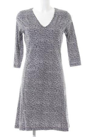 Zero Jerseykleid schwarz abstraktes Muster Casual-Look