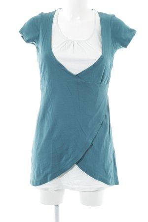 Zero Jerseykleid neonblau-weiß Casual-Look
