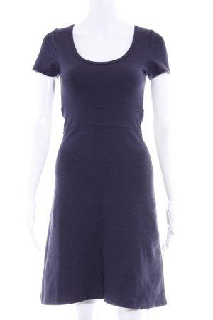 Zero Vestido de tela de jersey violeta oscuro look casual