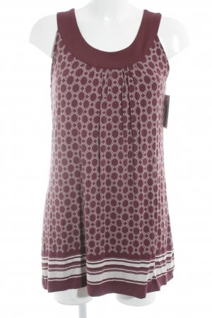 Zero Jerseykleid purpur-wollweiß abstraktes Muster Beach-Look