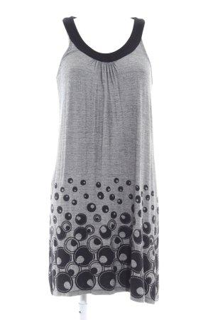 Zero Jerseykleid schwarz-hellgrau abstraktes Muster College-Look