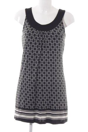 Zero Jerseykleid schwarz-weiß abstraktes Muster Casual-Look