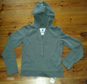 Zero Kapuzen-Sweatshirt Hoodie khaki Gr. 38 neu