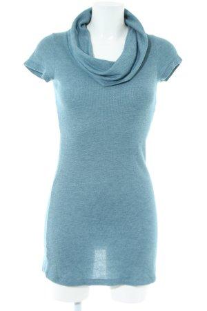 Zero Hooded Dress blue flecked casual look