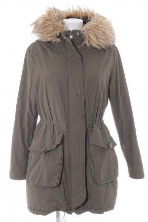 Zero Hooded Coat green grey casual look