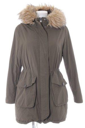 Zero Manteau à capuche gris vert style décontracté