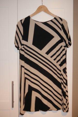 Zero Kleid Tunika creme schwarz Gr. 40