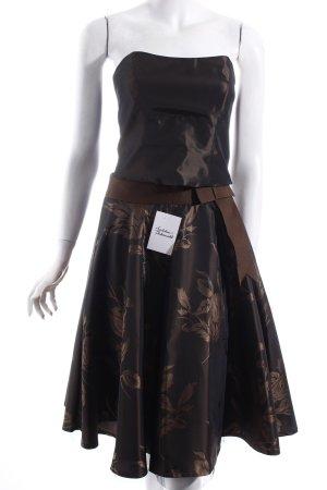 Zero Kostüm braun-dunkelbraun florales Muster Schleifen-Detail