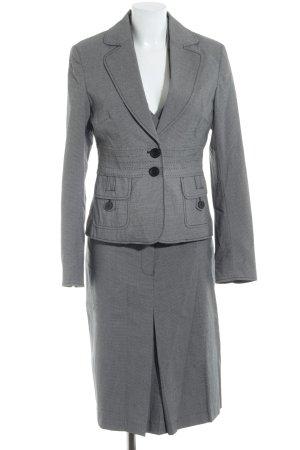 Zero Kostüm grau-schwarz Karomuster Business-Look