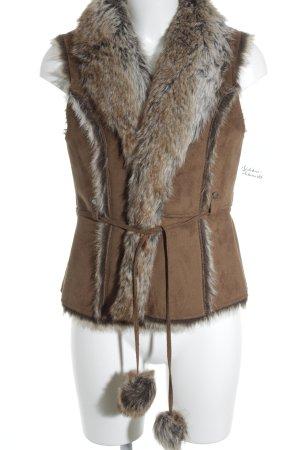 Zero Vest van imitatiebont veelkleurig country stijl