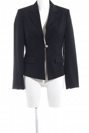 Zero Kurz-Blazer silberfarben-schwarz Business-Look
