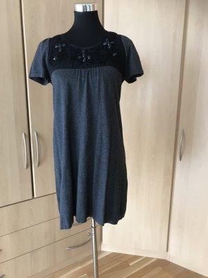 Zero Robe en maille tricotées gris anthracite-gris foncé viscose