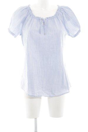 Zero Kurzarm-Bluse blau Casual-Look