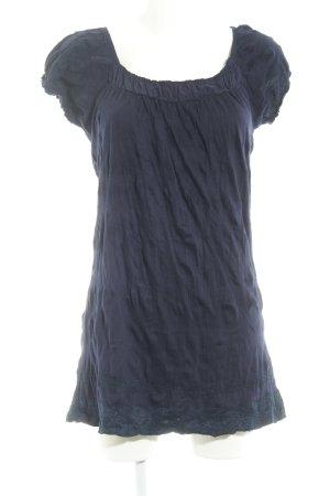 Zero Kurzarm-Bluse dunkelblau Casual-Look